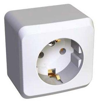 Розетка Schneider electricЭлектроустановочные изделия<br>Тип изделия: розетка,<br>Способ монтажа: открытой установки,<br>Цвет: белый,<br>Заземление: есть,<br>Сила тока: 16,<br>Шторки: есть,<br>Количество гнезд: 1,<br>Выходная мощность максимально: 3500,<br>Напряжение: 220<br>