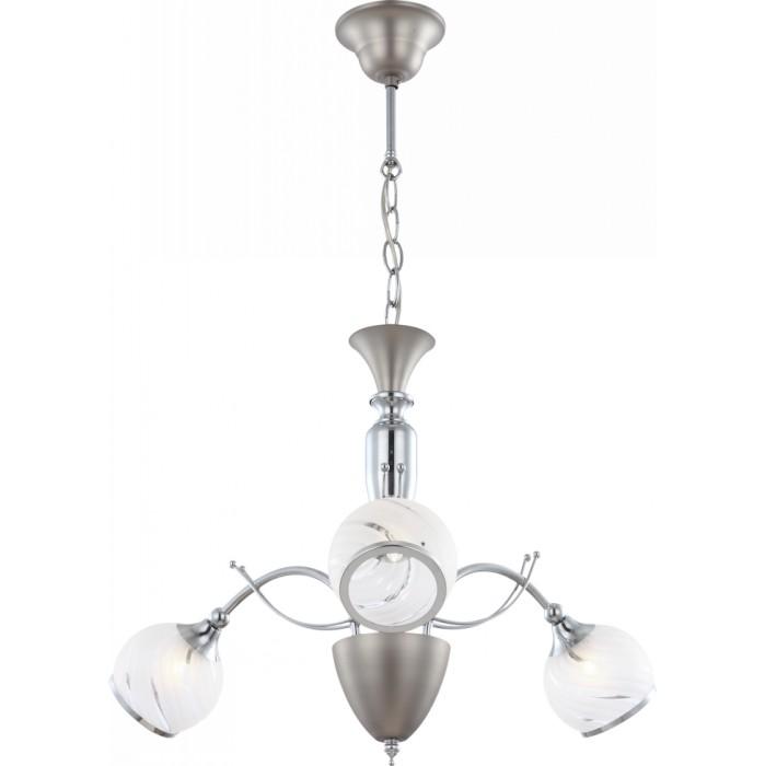 Люстра GloboЛюстры<br>Назначение светильника: для гостиной,<br>Стиль светильника: модерн,<br>Тип: подвесная,<br>Материал светильника: металл, стекло,<br>Материал плафона: стекло,<br>Материал арматуры: металл,<br>Диаметр: 570,<br>Высота: 900,<br>Количество ламп: 3,<br>Тип лампы: галогенная,<br>Мощность: 33,<br>Патрон: G9,<br>Цвет арматуры: хром,<br>Коллекция: aila<br>