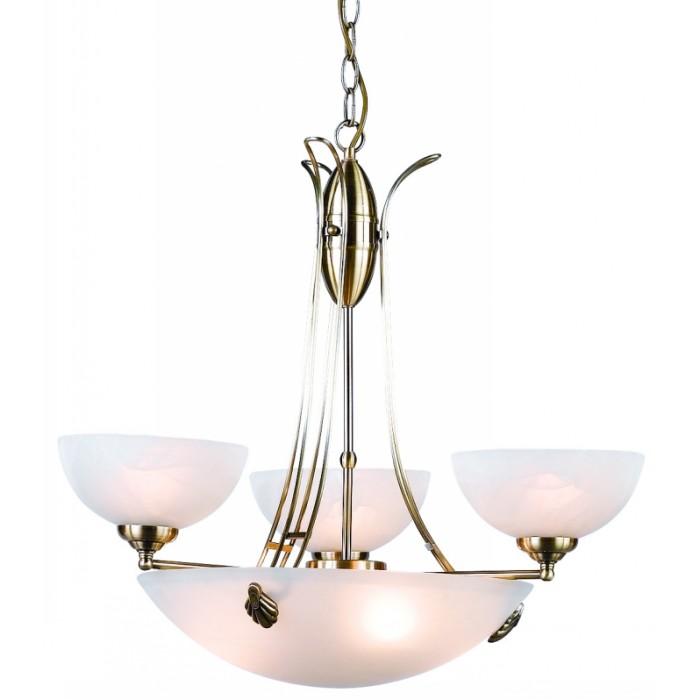 Люстра GloboЛюстры<br>Назначение светильника: для гостиной,<br>Стиль светильника: ковка,<br>Тип: потолочная,<br>Материал светильника: металл, стекло,<br>Материал плафона: стекло,<br>Материал арматуры: металл,<br>Диаметр: 590,<br>Высота: 1250,<br>Количество ламп: 6,<br>Тип лампы: накаливания,<br>Мощность: 60,<br>Патрон: Е14, Е27,<br>Цвет арматуры: бронза<br>