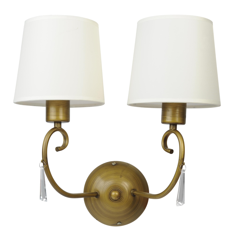 Бра Arte lampНастенные светильники и бра<br>Тип: бра,<br>Назначение светильника: для гостиной,<br>Стиль светильника: классика,<br>Материал светильника: металл,<br>Тип лампы: накаливания,<br>Количество ламп: 2,<br>Мощность: 40,<br>Патрон: Е27,<br>Цвет арматуры: цветной,<br>Длина (мм): 200,<br>Ширина: 400,<br>Высота: 400,<br>Диаметр: 400<br>