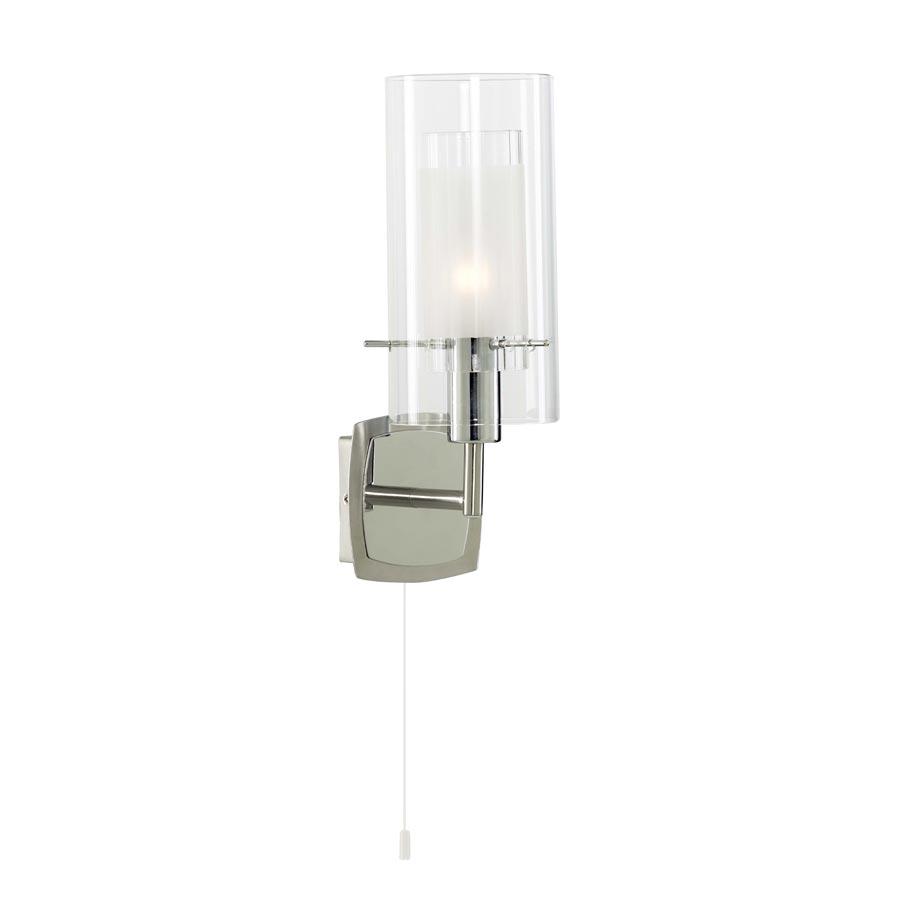 Бра Arte lampНастенные светильники и бра<br>Тип: бра,<br>Назначение светильника: для гостиной,<br>Стиль светильника: модерн,<br>Материал светильника: металл,<br>Тип лампы: накаливания,<br>Количество ламп: 1,<br>Мощность: 40,<br>Патрон: Е14,<br>Цвет арматуры: хром,<br>Ширина: 100,<br>Высота: 280,<br>Диаметр: 100<br>