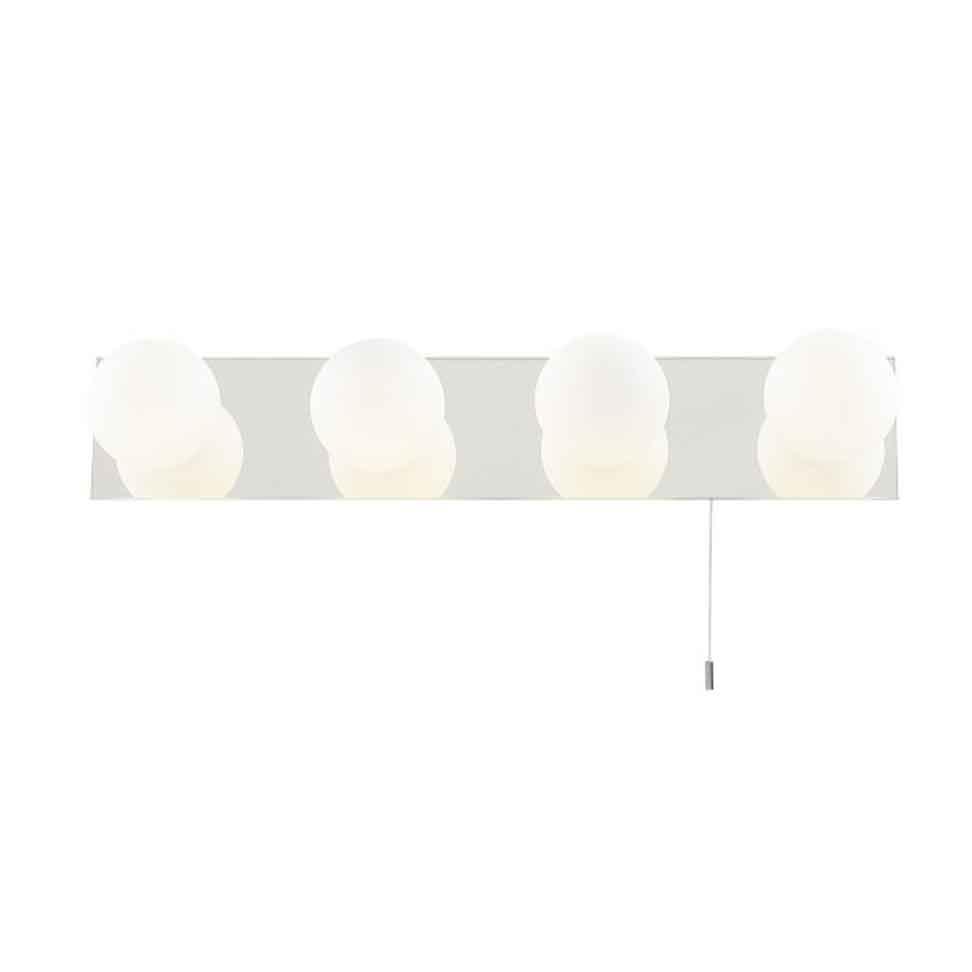 Светильник для ванной комнаты Arte lampСветильники для ванных комнат<br>Стиль светильника: модерн,<br>Назначение светильника: для ванной комнаты,<br>Материал светильника: металл, стекло,<br>Ширина: 80,<br>Высота: 440,<br>Диаметр: 80,<br>Мощность: 40,<br>Количество ламп: 4,<br>Тип лампы: галогенная,<br>Патрон: G9,<br>Цвет арматуры: хром,<br>Степень защиты от пыли и влаги: IP 44<br>