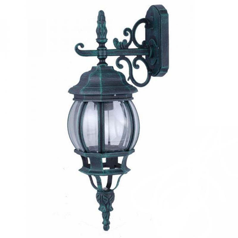 Светильник уличный настенный Arte lampСветильники уличные<br>Мощность: 100, Тип установки: настенный, Стиль светильника: модерн, Материал светильника: металл, стекло, Количество ламп: 1, Тип лампы: накаливания, Патрон: Е27, Степень защиты от пыли и влаги: IP 44, Цвет арматуры: зеленый, Диаметр: 160, Ширина: 160, Высота: 550<br>