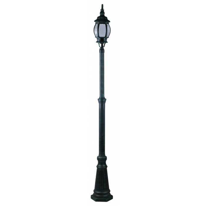 Светильник уличный Arte lampСветильники уличные<br>Мощность: 100, Тип установки: на землю/пол, Стиль светильника: модерн, Материал светильника: металл, стекло, Количество ламп: 1, Тип лампы: накаливания, Патрон: Е27, Степень защиты от пыли и влаги: IP 44, Цвет арматуры: зеленый, Диаметр: 160, Ширина: 160, Высота: 2300, Коллекция: atlanta 1047<br>