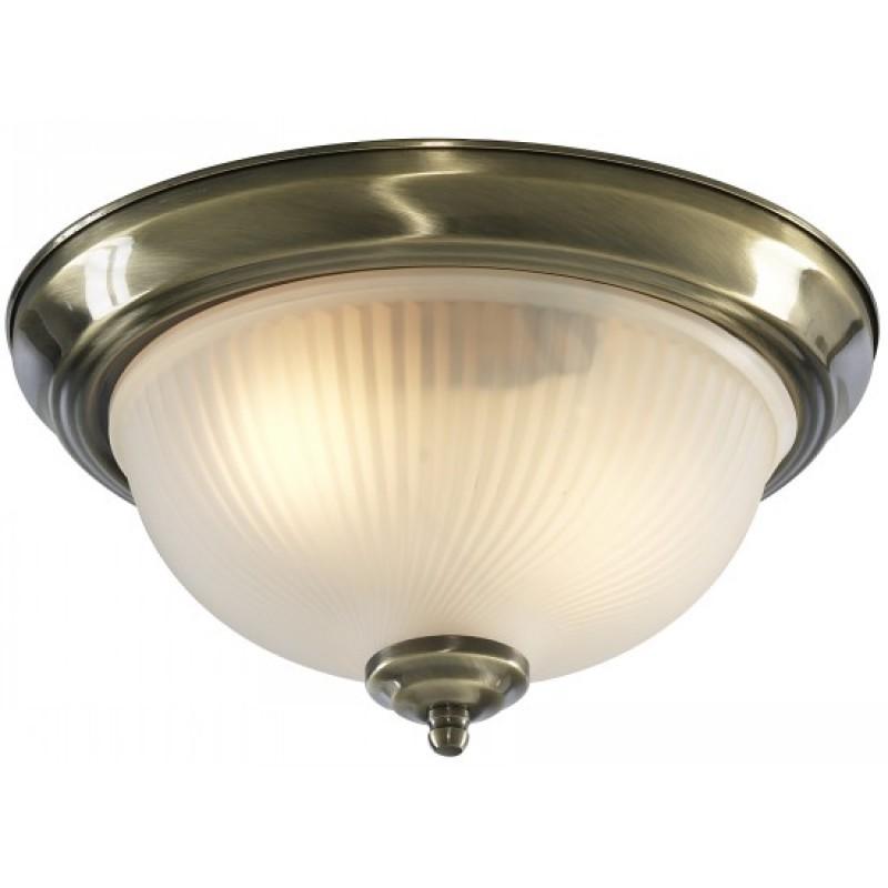 Светильник настенно-потолочный Arte lampСветильники офисные, промышленные<br>Назначение светильника: для ванной комнаты, Тип лампы: накаливания, Мощность: 60, Количество ламп: 1, Патрон: Е14, Ширина: 330, Диаметр: 330, Высота: 150, Коллекция: aqua 9370<br>