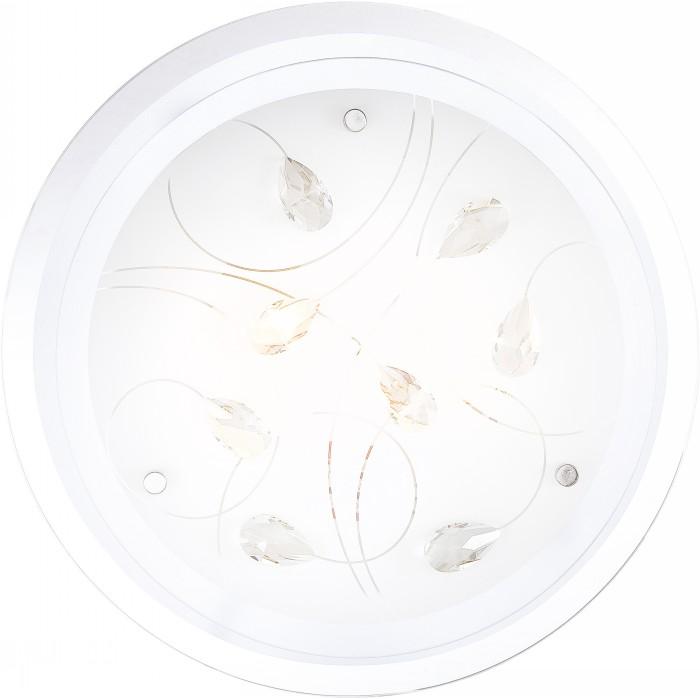 Светильник настенно-потолочный GloboСветильники настенно-потолочные<br>Мощность: 40,<br>Количество ламп: 2,<br>Назначение светильника: для комнаты,<br>Стиль светильника: модерн,<br>Материал светильника: металл, стекло,<br>Тип лампы: накаливания,<br>Высота: 85,<br>Диаметр: 335,<br>Патрон: Е27,<br>Цвет арматуры: хром,<br>Вес нетто: 1.4,<br>Коллекция: brenda<br>