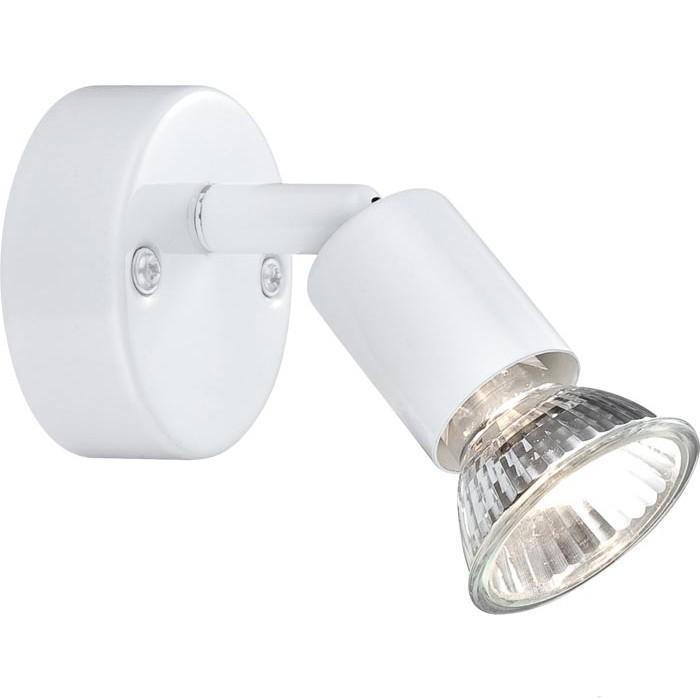 Спот GloboСпоты<br>Тип: спот,<br>Стиль светильника: хай-тек,<br>Материал светильника: металл,<br>Количество ламп: 1,<br>Тип лампы: галогенные и светодиодные,<br>Мощность: 50,<br>Патрон: GU10,<br>Цвет арматуры: белый,<br>Ширина: 70,<br>Длина (мм): 100,<br>Удаление от стены: 110<br>