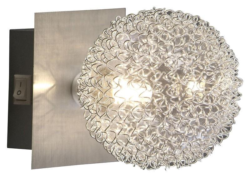 Бра GloboНастенные светильники и бра<br>Тип: настенный, Назначение светильника: подсветка, Стиль светильника: модерн, Материал светильника: металл, Тип лампы: галогенная, Количество ламп: 1, Мощность: 40, Патрон: G9, Цвет арматуры: матовый хром, Длина (мм): 110, Удаление от стены: 160, Коллекция: new design<br>