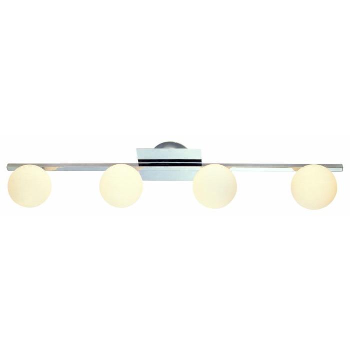 Спот GloboСпоты<br>Тип: спот,<br>Стиль светильника: модерн,<br>Материал светильника: металл, стекло,<br>Количество ламп: 4,<br>Тип лампы: галогенная,<br>Мощность: 40,<br>Патрон: G9,<br>Цвет арматуры: хром,<br>Ширина: 110,<br>Длина (мм): 800,<br>Высота: 160<br>