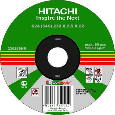 Круг отрезной HITACHI А24 180 Х 2,5 Х 22