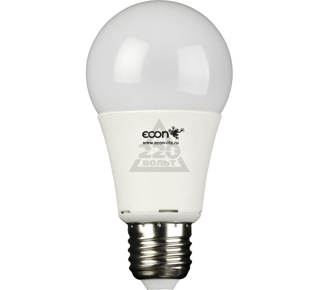 Лампа светодиодная ECON LED A 10Вт E27 3000K A60