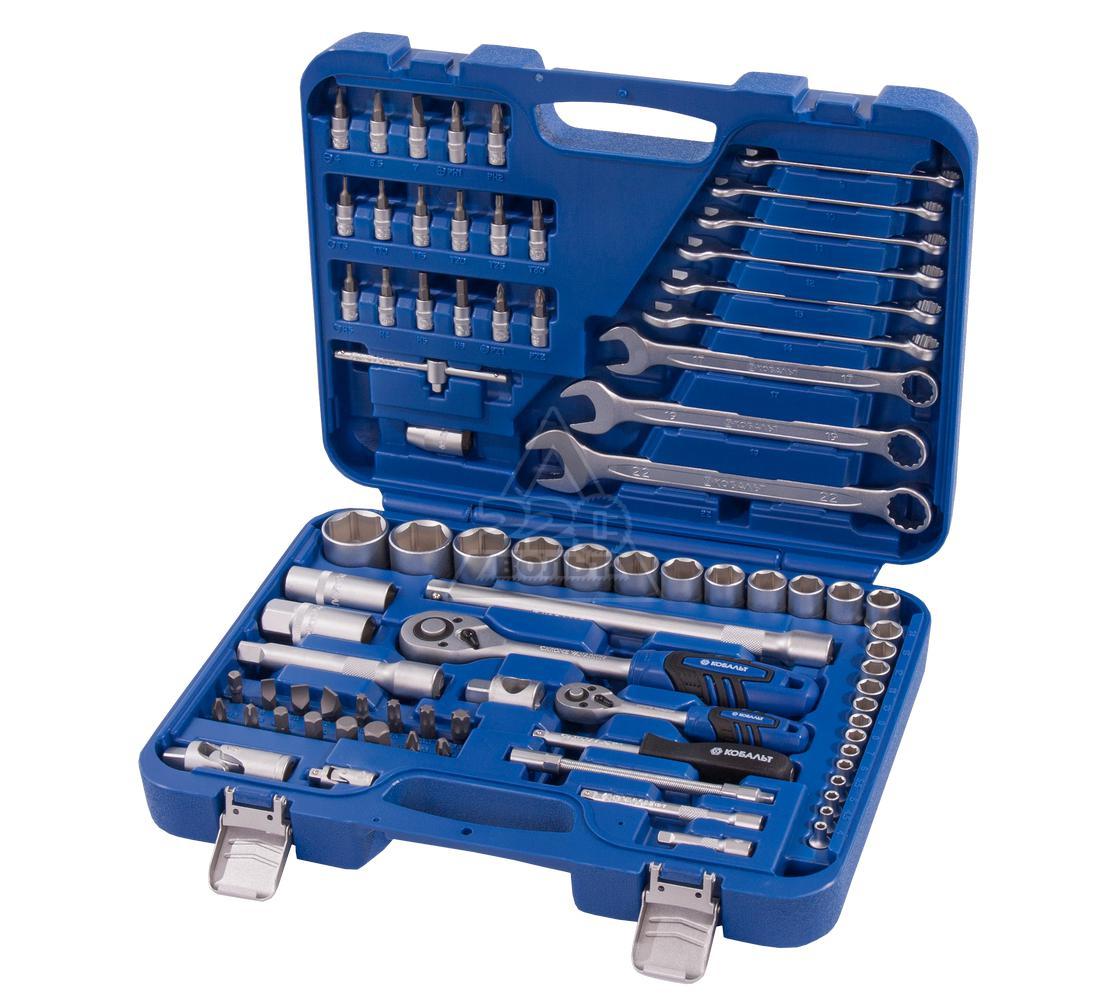 Набор инструментов в чемодане, 82 предметов КОБАЛЬТ 010104-82