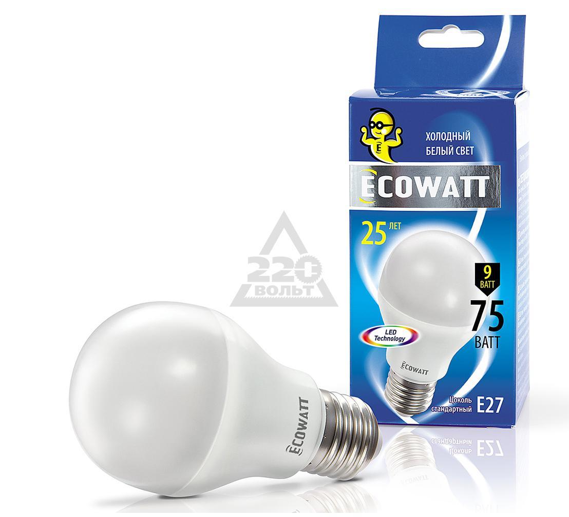 ����� ������������ ECOWATT A60 230� 9(75)W 4000K E27