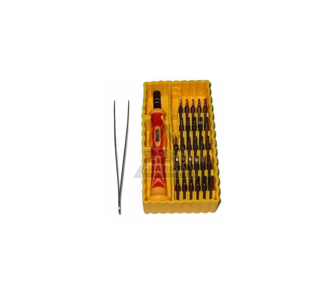 Отвертка  с набором бит для точной работы, 30 предметов SKRAB 42623