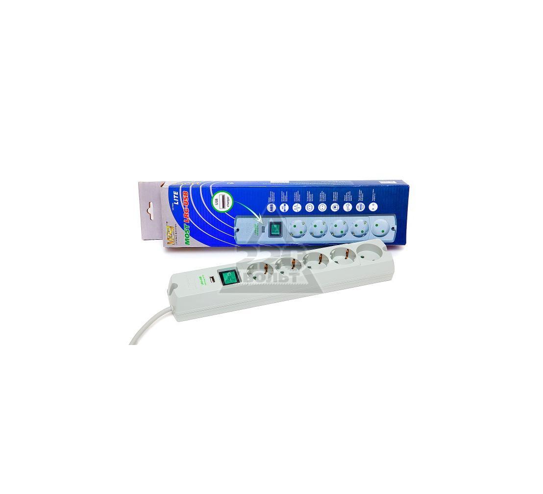 Сетевой фильтр MOST LRG-USB box 1.7м