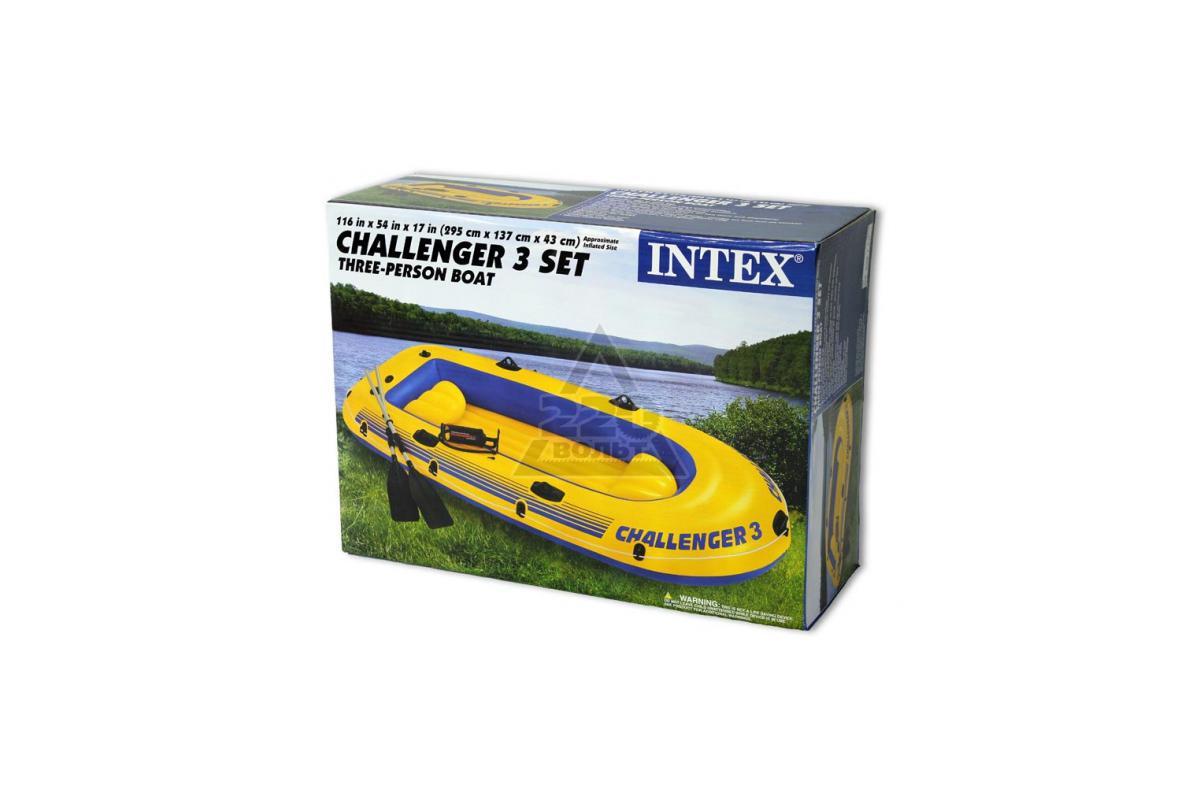 надувная лодка intex 68370 challenger 3 купить