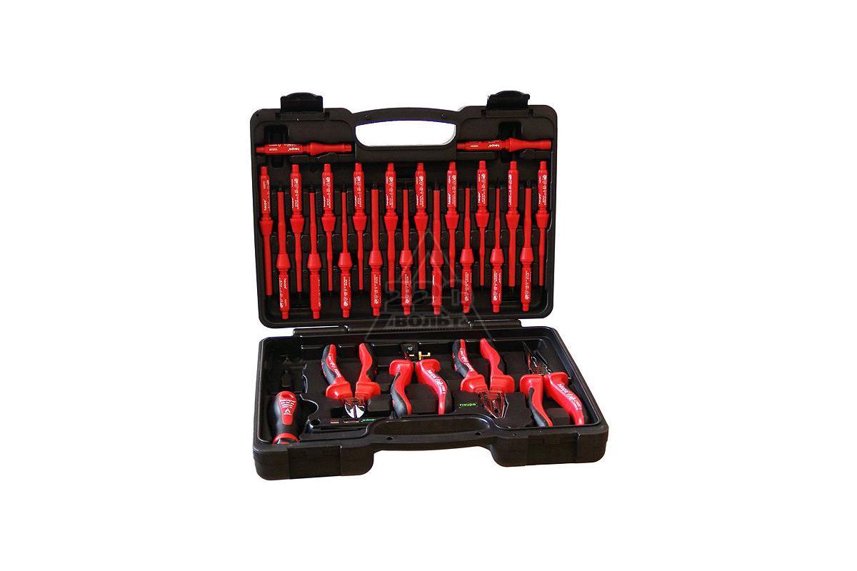 Набор инструментов для электрика в чемодане пр haupa