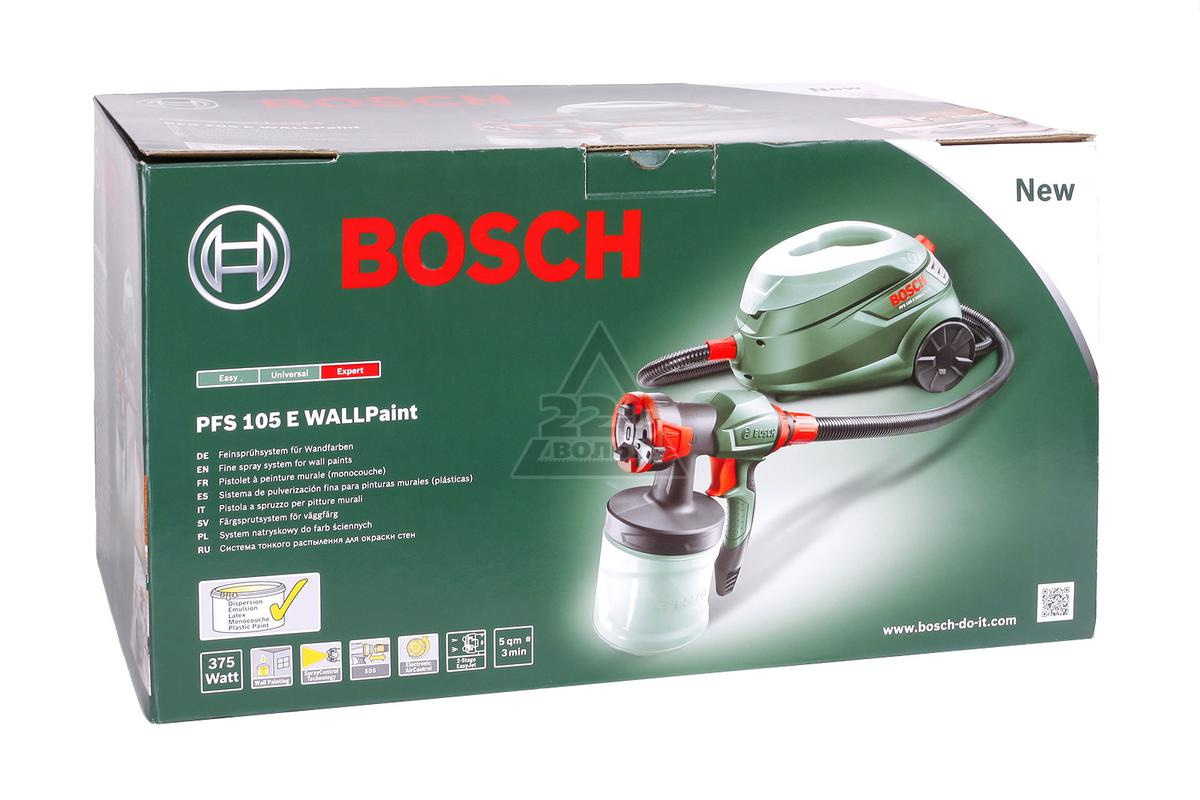 Bosch Pfs 105 E Wallpaint Инструкция