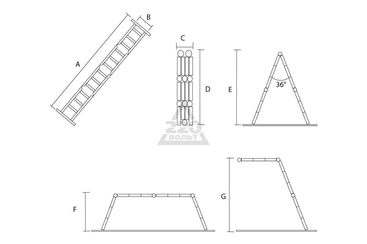 Лестница-трансформер Новая Высота