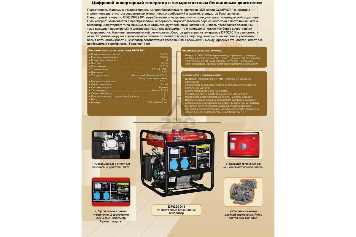Инверторный генератор ELITECH БИГ 3500РМ