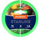 Леска для триммеров PATRIOT Starline D 1,6мм L 15м