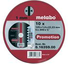 Круг отрезной METABO 125 Х 1 Х 22 10шт. в мет.коробке