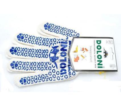 Перчатки ПВХ DOLONI 520  с точкой ПВХ