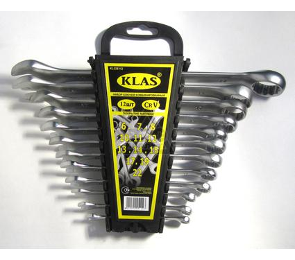Набор комбинированных гаечных ключей в держателе, 12 шт. KLAS IK01-212
