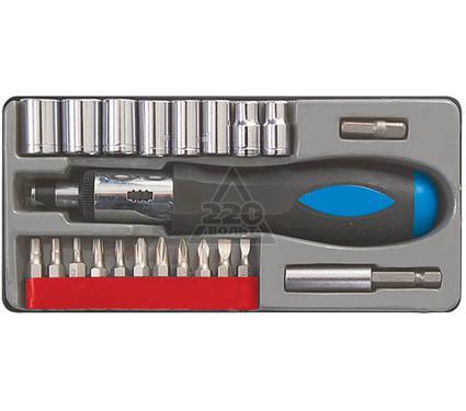 Отвертка реверсивная с набором торцевых головок и бит FIT 56305