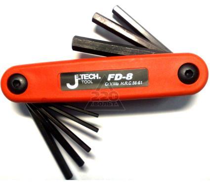 Набор шестигранных ключей складных в ручке, 8 шт. JETECH FD-8