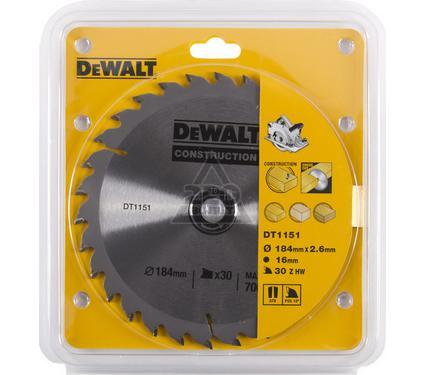 Круг пильный твердосплавный DEWALT DT1151-QZ