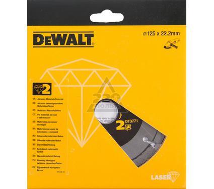 Круг алмазный DEWALT 125x22.2x2мм сегментный, по абразивам