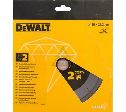 Круг алмазный DEWALT 180x22.2x2.4мм сегментный, по абразивам
