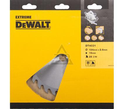 Круг пильный твердосплавный DEWALT DT4031-QZ