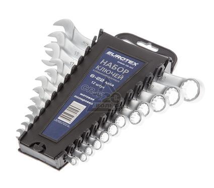 Набор комбинированных гаечных ключей в держателе, 12 шт. EUROTEX 031649-126-022
