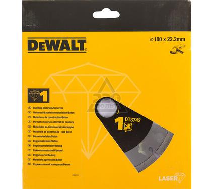 Круг алмазный DEWALT 180x22.2x2мм сегментный, универсальный