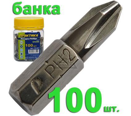 Бита ПРАКТИКА 776-591 Ph2 25мм, Профи 100шт.