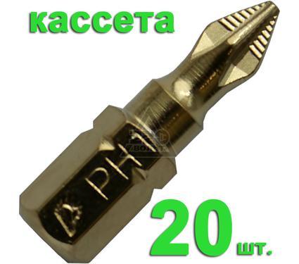 Бита ПРАКТИКА 036-865 Ph1 25мм, TiN, Эксперт, 20шт.