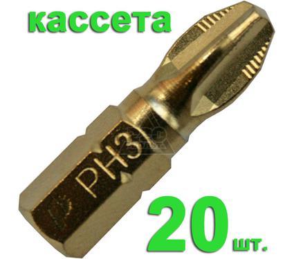 Бита ПРАКТИКА 036-889 Ph3 25мм, TiN, Эксперт, 20шт.