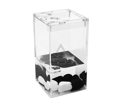Стакан для зубных щеток WESS Black and white G86-06