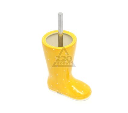Ершик для унитаза VERRAN Wellies yellow 790-41