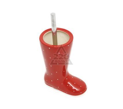 Ершик для унитаза VERRAN Wellies red 790-81