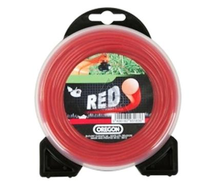 Леска для триммеров OREGON Roundline RED 2.4мм*15м