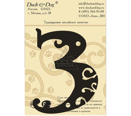 Табличка DUCK & DOG Цифра 3 110 мм
