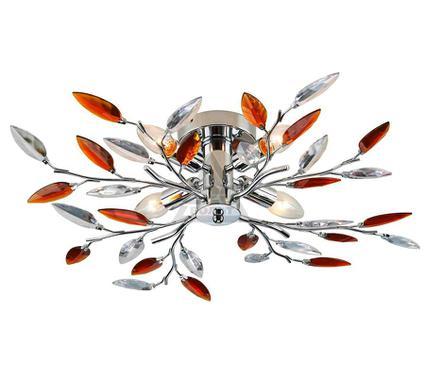 Люстра LAMPLANDIA 233-4 Jeny amber