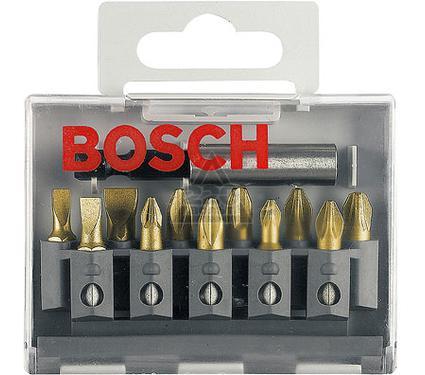 Набор бит BOSCH 2 607 001 924  MAXgrip Ph/Pz/LS - 11шт.+ держатель