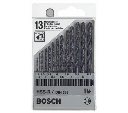 Набор сверл BOSCH 1 609 200 201  металл 1.5-6.5мм, 13шт.