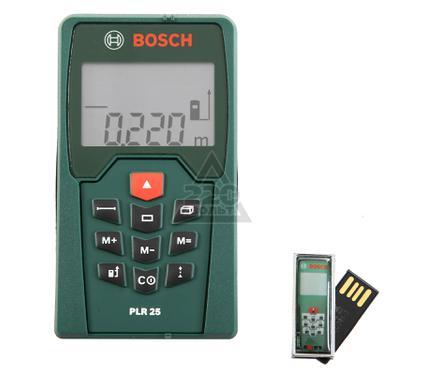 Дальномер лазерный BOSCH PLR 25 + USB 4 Гб
