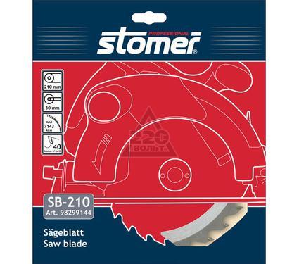 Круг пильный твердосплавный STOMER SB-210