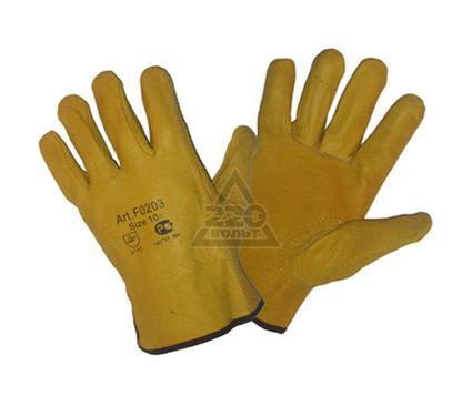 Перчатки спилковые NEWTON per29 Driver Yellow